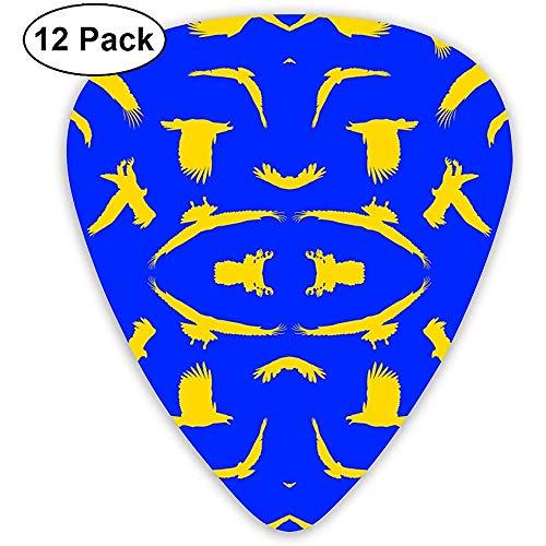 12 Pack gouden adelaars op blauw groot behang gitaar picks complete gift set voor gitarist