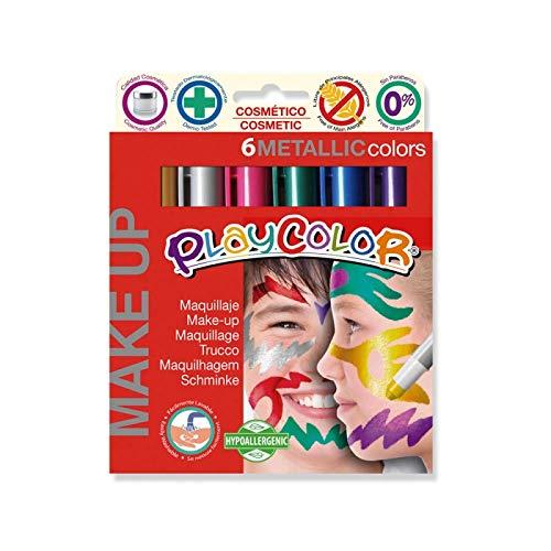 Playcolor Make Up Metallic pocket - Maquillaje - 6 Colores Metallicos surtidos - 01011