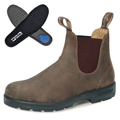 Blundstone Comfort Boots Style 585 Nubukleder | Rustic Brown | Gr. 5.0/38.0 | + Einlegesohlen