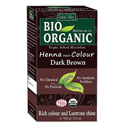 INDUS VALLEY 100 Percent Organic Hair Color, Dark Brown (100gm)