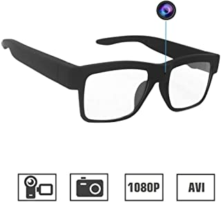 Camera Glasses 1080P, HD Video Recording Camera Sport Camera with Wearable Glass for Office/Training/Teaching/Kids/Pets