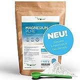 Vit4ever Magnesium Pure - 600 g Pulver - 100% Magnesiumcitrat - 130 Tagesportionen (4,3 Monate Vorrat) - Laborgeprüft - Reines Pulver ohne Zusätze - Premium Qualität - Vegan