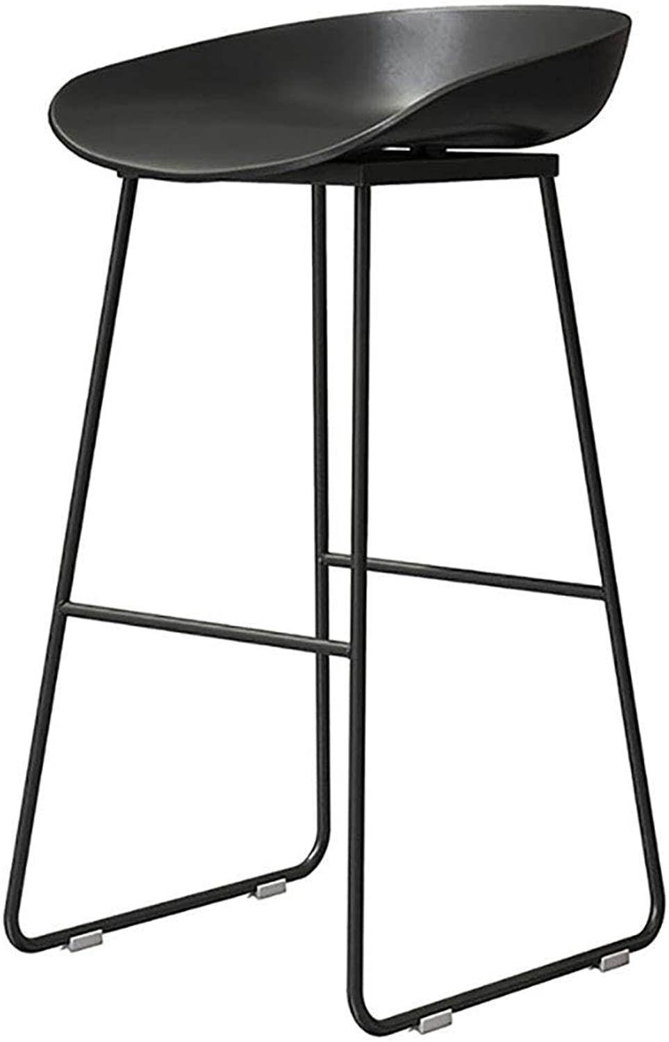 Contemporary Height Barstool, Kitchen Counter Breakfast Stool Chair,Black Matte Resin Seat with gold Metal Legs LEBAO (color   Black, Size   Seat heigh-65cm)