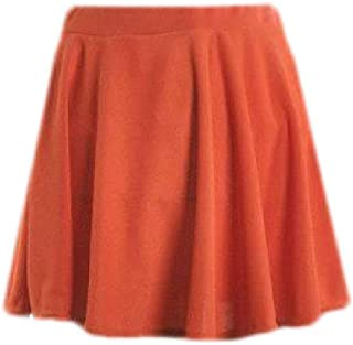 GRMO Faldas la Mujer High Rise Plisado una Linea de Mini Falda de Patinadora de Color sólido