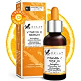 GAGNANT 2020 BIO* Sérum à la Vitamine C pour Visage/Cou/Yeux - 5X PLUS PUISSANT Sérum Anti-Âge avec 20% de Vit C - Réduit les Rides/Ridules/Signes de l' ge - 100% Végan/Développé par des Dermatologues