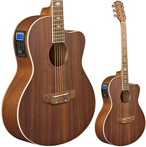 Lindo Feeling Guitarra Electro Acústica con Preamplificador Sintonizador EQ - Sapele