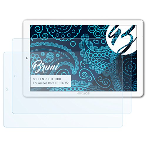 Bruni Schutzfolie kompatibel mit Archos Core 101 3G V2 Folie, glasklare Bildschirmschutzfolie (2X)