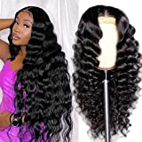 ARIETIS 26 Inch 13x5x1 T-Part Lace Front Wigs Human Hair Loose Deep Wave Glueless Brazilian Human Hair Wigs for Black Women Pre Plucked with Baby Hair Natural Hairline 150% Density Lace Wigs