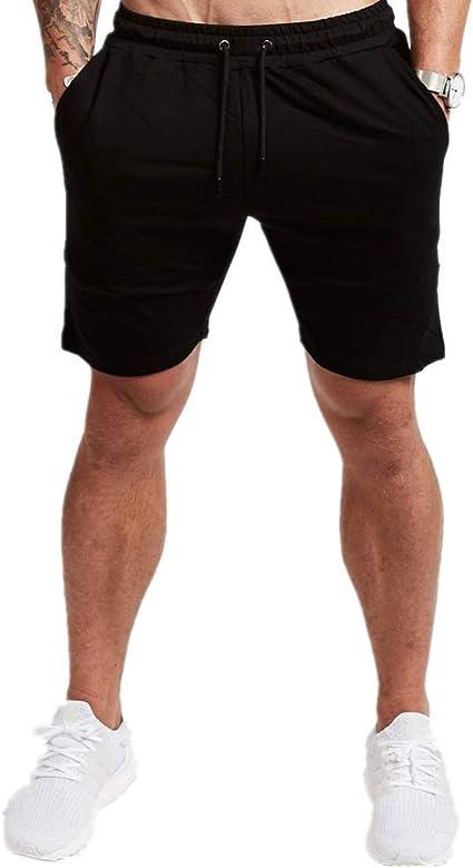 Morbuy /Ét/é Running Couleur Unie Short de Sport L/éger Respirant S/échage Rapide pour Jogging Entra/înement Gym Fitness Bodybuilding Boxe Tennis Bermuda M,Rouge Shorts de Course Hommes