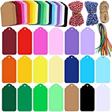 Quantity:Package includes 200 Pcs 20 Colors Gift Tags with Hole Blank Tags Favor Tags Hang Tags,30 Pcs 8 Colors Decorative Organza Ribbons in Red,Orange,Green,Yellow,Blue,Purple,Black and white.40 Yards Holiday Bakers Twine in red&white,blue&white. 2...
