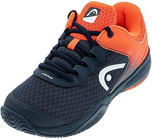 Head Sprint 3.0 Jnr, Zapatillas de Tenis, Azul (Midnight Navy/Neon Red Mnnr), 34 EU