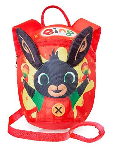 Bing Kids teugels rugzak | Bing Bunny peuter rode rugzak voor jongens, meisjes | Rugzak met veiligheidsgordel | Peuters rugzak met teugels voor kleuterschool, kinderdagverblijf | Kids Bag with Leash