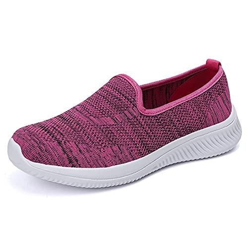 ZXCN Zapatos de la Nueva Madre Cubierta de Cabeza Redonda Ligera pies cómodos Zapatos Deportivos Casuales Ligeros y Transpirables Zapatos de Mujer de Gran tamaño