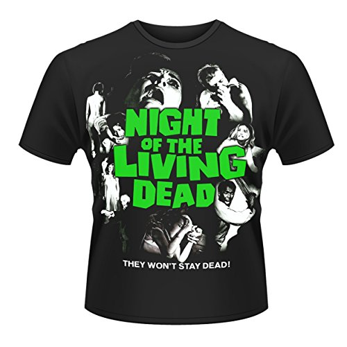 Plastic Head T Shirt L Night of The Living Dead - Poster (T Shirt Taille Large)