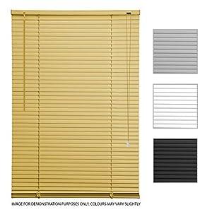 ASAB - Persianas venecianas de PVC para persianas horizontales de Ventana (75 cm de Ancho, Roble estándar)