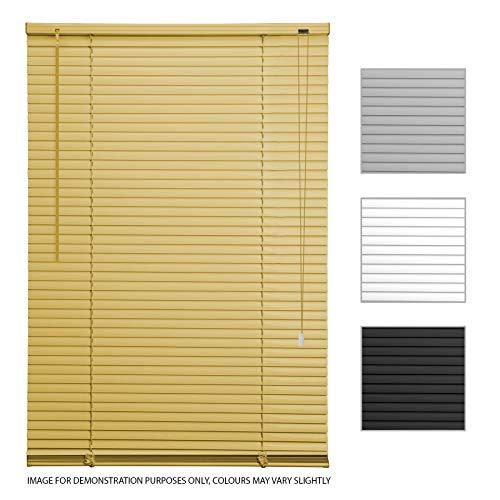 ASAB - Persianas venecianas de PVC para persianas horizontales de Ventanas (90 cm de Ancho, Madera de Roble)