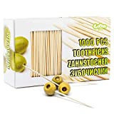 GoDan   Premium Bamboo Wooden Cocktail Toothpicks   Multiple Uses - Cocktail Sticks, Tooth Picks Sticks, Olive Picks, Food Picks, Tooth Picks, Fruit Sticks and Art & Craft   Large Package 1000 PCS