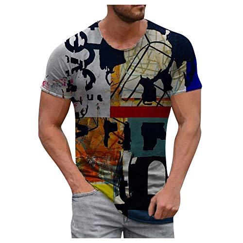 AWDX 2021 Herren T-Shirt 3D Herz Tie-Dye All-Seeing Eye Kreuz Regenbogen Bedruckte Tops Casual Vintage O-Ausschnitt Folk-benutzerdefinierte Pullover Ethnic Style Kurzarm Bluse XXXL, XXXXL, XXXXXL 2.1
