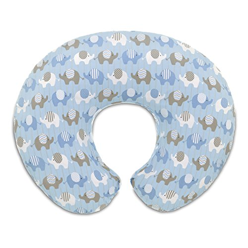 Boppy 8079904380000 Stillkissenbezug Baumwolle, elephants blue