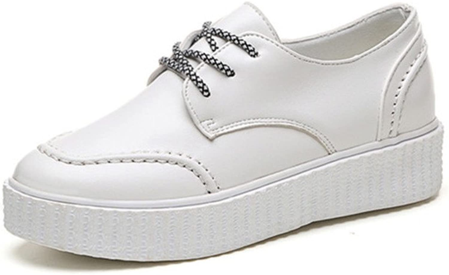 Huhuj Korean Version of Platform shoes in The Fall shoes with Platform shoes UK Wind Casual shoes Small White shoes Retro shoes