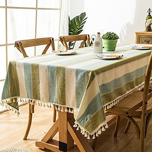 laamei Nappe Imperméable de Table Rectangulaire Anti-Taches avec Franges, Nappe Moderne pour...