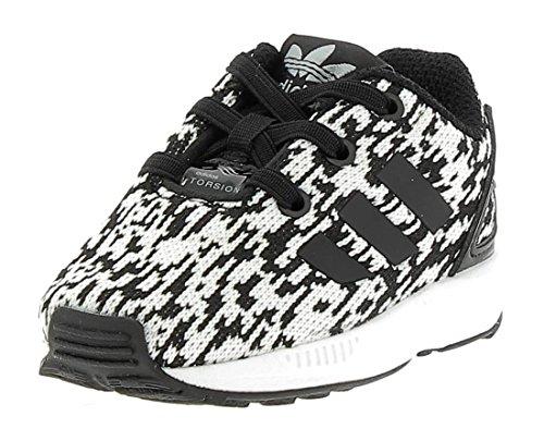 adidas ZX Flux El I, Sneakers Unisex – Bimbi 0-24, Nero (Core Black/Core Black/Ftwr White), 26 EU