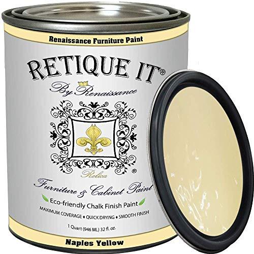 Retique It Chalk Furniture Paint by Renaissance DIY, 32 oz (Quart), 23 Naples Yellow