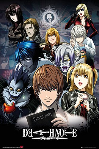 Death Note - Manga/Anime TV Show Poster/Print (Character Collage) (Size: 24 inches x 36 inches) (Black Poster Hanger)