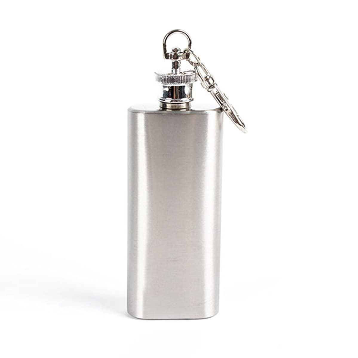 Move on 2oz Mini Wine Bottle Stainless Steel Liquor Hip Flask with Screw Cap Portable Car Key Holder
