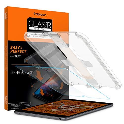 Spigen, Panzerglas Schutzfolie kompatibel mit iPad Mini 5 / Mini 4, EZ Fit, Schablone für Installation, Hüllenfre&lich, Kristallklar, 9H gehärtes Glas, 0.3 mm, iPad Mini 5 Schutzfolie (051GL26131)