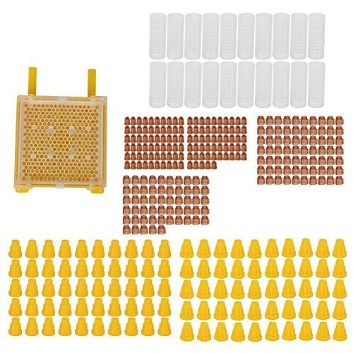 Set de CríA de Reina, Kits de CríA de Abeja Reina de PláStico, Paquete Queen Crianza CéLula Protectora Conjunto Completo de CríA de Abejas para los Apicultores, Suministros de Apicultura