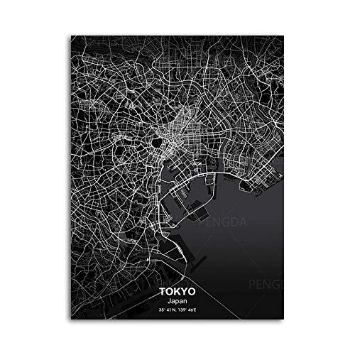 Rompecabezas De Madera 1000 Piezas   Tokyo Japón Ciudad Mapa Patrón Puzzle, para Adultos Y Niños, Adolescentes Adultos Cerebro Prueba Alivio Desafío Juguetes Difíciles,300Pcs