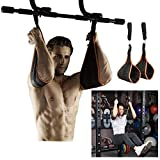 Ab Straps Hanging Lifting Abdominal Exercise Padded Slings Belt - Great for Chinning Pull up Leg Raises Gym...