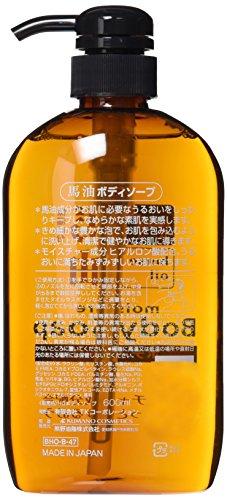 熊野油脂馬油ボディソープ600ml