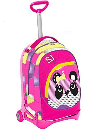 Seven S.P.A. Trolley Jack Junior - SJ Animals - Giallo Rosa - 28 LT SGANCIABILE e Lavabile - Scuola e Viaggio