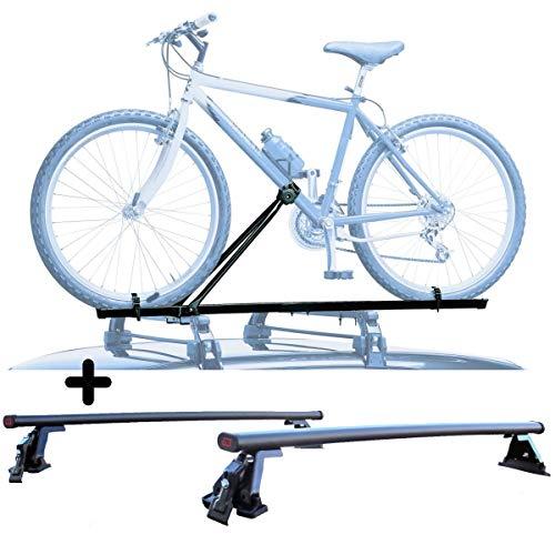 PROPOSTEONLINE Portabici per Tetto Auto Compatibile per Lexus NX 5p (2014 in Poi) Porta Biciclette Universale in Acciaio Incluso di Barre Portatutto