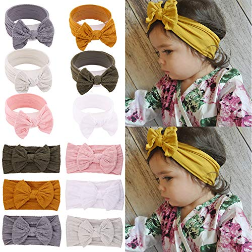 Baby Headbands Turban Knotted Newborn Infant Toddler Hairbands and Bows Child Hair Accessories 6 Pack