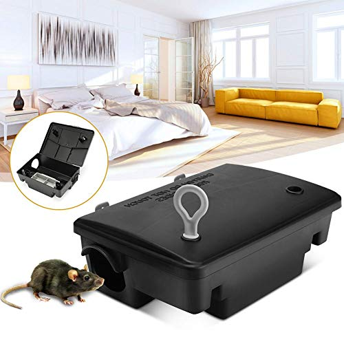 LIJUMN Professional Wall Hanging Mouse Trap with Lock, Baiter Rat & Mouse Bait Station - Holds Traps for Mouse skilful Custody