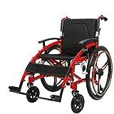 YISUNF Silla de rehabilitación médica, silla de ruedas, sillas de ruedas Sport Tipo 15Kg portátil plegable ergonómico avanzado cómodo reposabrazos respaldo regulable Piernas 100Kg de carga del cojinet