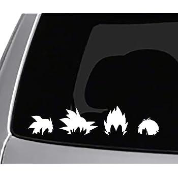 Amazon Com Seek Racing Dbz 4 Hair Family Sticker Decal Car Truck Window Bumper Sticker Funny Dbz Dragon Ball Z Goku Vegeta Automotive