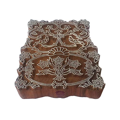 Royal Kraft Orientalisch Holz Blöcke Groß Blumenrand Entwürfe Großer Drucken Stempel