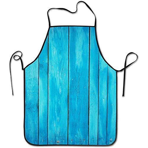 Alvahw Justierbarer Schellfisch-Seeblau-alte hölzerne Eichen-Planken-gestreifte Holz-Schutzblech CookingResistant Küchen-Schutzbleche