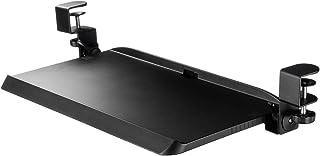 イーサプライ キーボードトレイ 後付 クランプ取付 幅51cm 奥行20cm デスク設置 角度調整 ブラック EZ1-KB005
