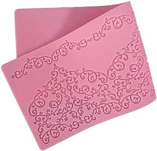 Baifeng 1PCS colore casuale 38.5/x 28.5/cm decorazione torta bordo in pizzo in silicone antiaderente da torta al cioccolato fondente Mestiere zucchero Adorn stampo in silicone mat