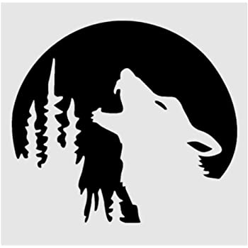 Howling Wolf Stencil 8x8 Sheet