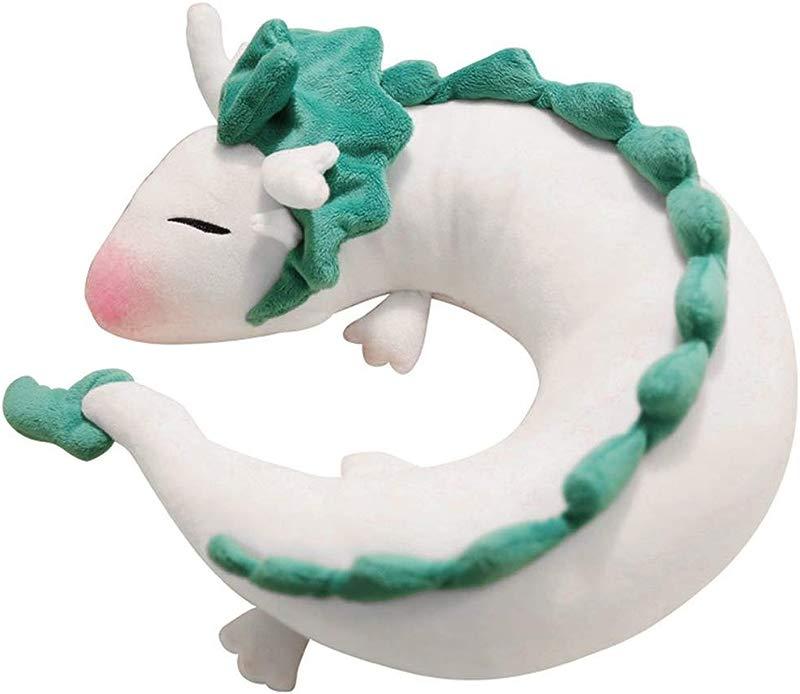 BoWen Dragon Plush Doll Toy Pillow Anime Cute White Dragon Neck U Shape Pillow Lovely Dragon Stuffed Toy Soft And Huggable Plush Perfect Chrismas Birthday Gift Home Decoration