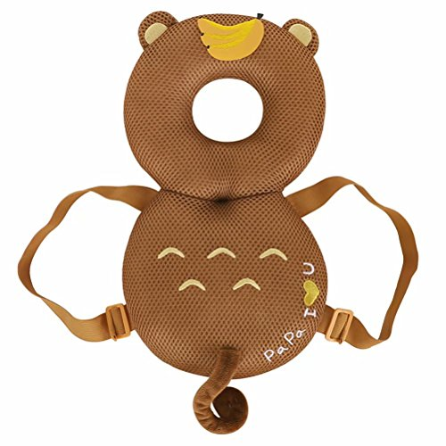 Karikatur Baby Head Protector Pad Kleinkind Kopfst¨¹tze Kissen Baby Neck Pflege Tropfen Widerstand Kissen Kaffee Affe 1 Gro?