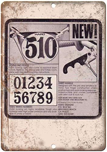 HARO BMX Targa da parete in latta con targa in metallo, stile vintage