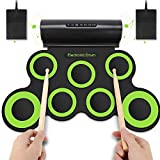 YISSVIC Roll Up Drum Electronic Drum Pads Foldable Digital Electronic Drum with Built-in