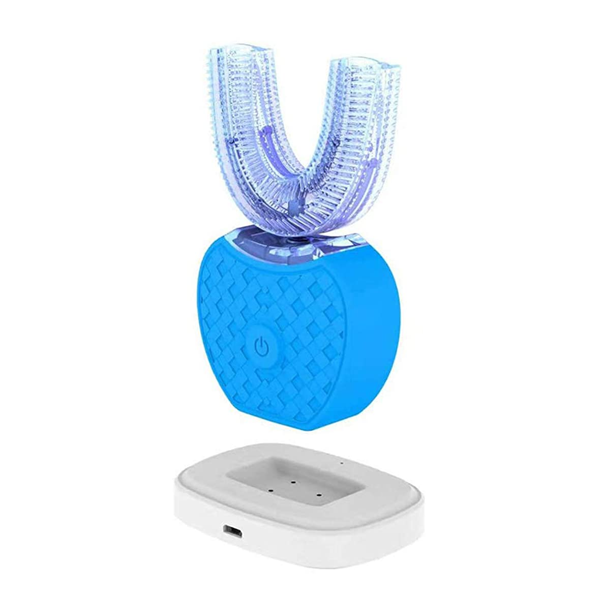 インゲン植物の控えるU型電動歯ブラシ 360°オールラウンドクリーニングホワイトニングマウスクリーナー充電式Blau